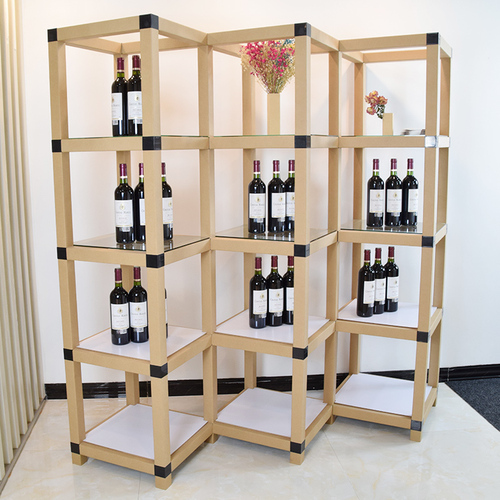4-tier 12-cube diamond shape products display stand made by paper tubes